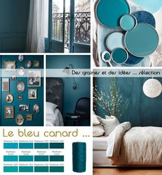 "Medium blue, half green, always at the limit …, the blue, which we call ""cana"" … - Schönsten Deko-Ideen Interior Paint Colors, Paint Colors For Home, Room Interior, Interior Design Living Room, Room Colors, Wall Colors, House Colors, Colour Schemes, Paint Schemes"