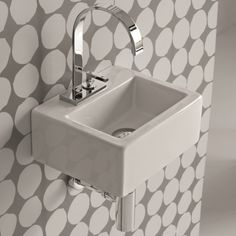 Hidra Ceramica | rechteckiges Mini-Handwaschbecken mit Hahnloch | Serie Loft | Aufsatz- oder Wandmontage | Design Carlo Urbinati