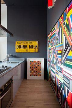 Piezas de mercadillo conjugadas con mucho arte en un loft neoyorquino | Etxekodeco