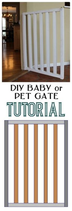 DIY Baby or Pet Gate Tutorial: Easy and Inexpensive Project