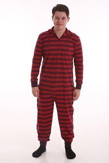 Funzee Adult Onesie Non Footed Pajamas with Butt Flap Retro Style XS-XXL (Medium) - alert discount Adult Onesie Pajamas, Best Pajamas, One Piece Pajamas, Athletic Fashion, Retro Design, Stripes Design, Retro Fashion, Onesies, How To Wear