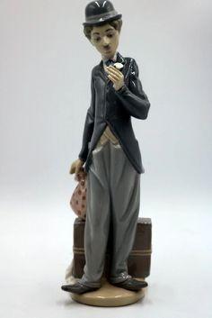 """Lladro """"Charlie the Tramp"""" Porcelain Figure - Mar 2017 Charlie Chaplin, Antique Art, Harem Pants, Porcelain, Antiques, Fashion, Moda, Antiquities, La Mode"""