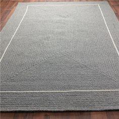 pretty grey simple rug