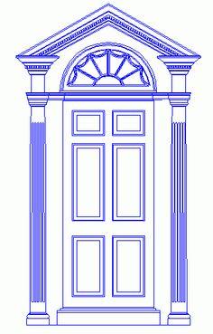 13 best exterior door pilasters and pediments images - Exterior door pediment and pilasters ...