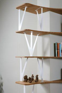 Custom steel and #wood #bookcase CURVE by Jo-a SA | #design Sébastien Boucquey