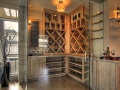 I don't want or need a wine room, but if I did, I'd want it to look like this! Pinterest Fuel: Okanagan Valley Homes
