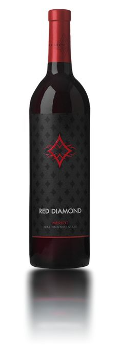 The 2008 Red Diamond Merlot is Merlot, Cabernet Sauvignon and Cabernet Franc sourced from several AVA's in Washington State. Red Diamond Winery is Wine Finder, Merlot Wine, Buy Wine Online, Wine Packaging, Cheap Wine, Wine Time, Wine And Spirits, Bottle Design, Wine Tasting