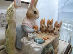 Beatrix Potter Figurine 1987 Mrs Rabbit with by 3ButterflyKisses4U, $40.00