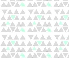 Gray and Mint Triangle Dance fabric by bycharliebean_ on Spoonflower - custom fabric Fabric Shop, Custom Fabric, Planner Sheets, Cute Backgrounds, Print Packaging, Baby Boy, Cute Pattern, Pattern Wallpaper, Surface Design