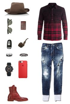 """House of Madalani"" by houseofmadalani on Polyvore featuring DC Shoes, Dsquared2, Guidi, Albertus Swanepoel, TAG Heuer, Eddie Borgo, David Yurman, Ray-Ban, Ralph Lauren and men's fashion"