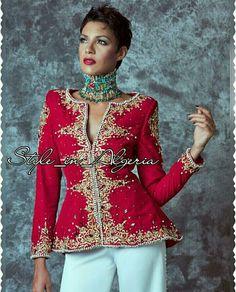 Karako jacket  Veste de Karakou   #TraditionalAlgerianOutfits #TraditionalAlgerianDresses #AlgerianFashion #Tradition #Fashion #Mode #HauteCouture #Costume  #ModeAlgerienne #Algeria #Algerie #Djazair #dzair #dz الجزائر# #unesco #patrimoine #Culture #Arab #3arab #Arabe #Amazigh #Berbere #Imazighen #World #burnous #karakou #badroun #blouza #chedda #robekabyle #fergani #tasdira #caftanalgerien #fetla #gold #or #bijoux #jewelry #الملحفة_الشاوية + #الحلي_الجزائري التقليدي  #اقوال_جزائرية…