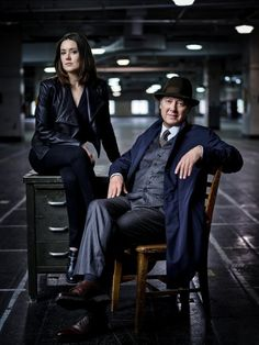 Still of James Spader and Megan Boone in The Blacklist (2013)