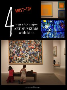 These four ideas have kept my children enjoying art museums for years!!