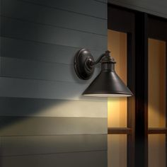 Portfolio Dovray H Oil Rubbed Bronze Dark Sky Outdoor Wall Light At Lowes