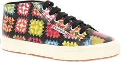 Superga House of Holland Collaboration Crochet High Top Plimsolls