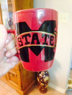 Mississippi State Mug/ Painted Mug on Etsy, $15.00