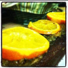 Orange cake with chocolat