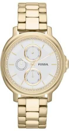 Fossil Watches, Women's Chelsey Multifunction Stainless Steel Watch Gold-Tone #ES3354