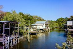 Cedar Key fishing shacks - Cedar Key Historic little fishing Village in Levy County, Florida