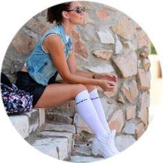 miau´s life, miauslife, bag bag, over knee socks, white shoes, jeans jacket