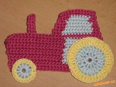 traktor česky! Diy And Crafts, Crafts For Kids, Crochet Bookmarks, Wool Applique, Malm, Crochet Flowers, Baby Toys, Crochet Projects, Crochet Patterns