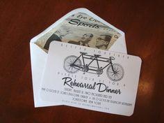 Vintage Bicycle Rehearsal Dinner Invitations