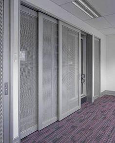 triple track frameless panel sliding doors - Google Search