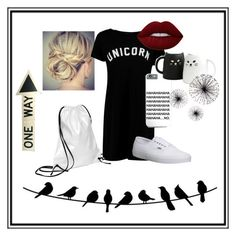 """""""Untitled #7"""" by netabarsh ❤ liked on Polyvore featuring Xenab Lone, Boohoo, Vans and Lime Crime"""