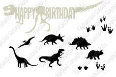 Dinosaur SVG bundle T-rex SVG Cutting Files eps svg dxf
