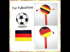 """Für Fußballfans """"Fußball-Klapper"""", Basteln mit Kindern - YouTube"""