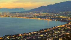 Panorama Of The City Of Kalamata Stock Image - Image of cityscape, glow: 19668923 Greek Island Tours, Greek Islands, Greece Holiday, Greece Travel, Athens, River, City, Beach, Instagram Posts