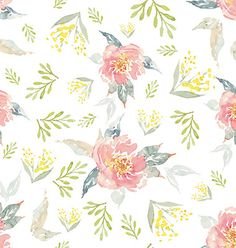 Watercolor flowers seamless pattern vector 4353378 - by Karma3 on VectorStock®