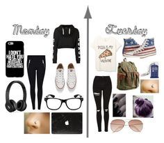 """""""Weekly Converse pt.1"""" by hogwarts-hipster ❤ liked on Polyvore featuring MICHAEL Michael Kors, Topshop, Converse, Beats by Dr. Dre, Volcom and H&M"""