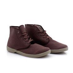 Hopsack Oxford Hi-Top Shoe Brown design inspiration on Fab.