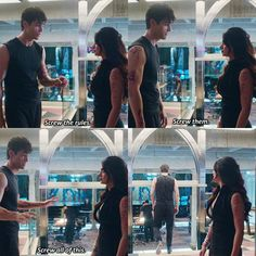 """#Shadowhunters 1x06 """"Of Men and Angels"""" - Alec and Izzy<<<i was so very tempted to say 'screw me.'<<< oh my gosh"""