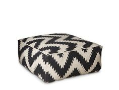 jasper black and white chevron contemporary style pouffe – Swoon Editions