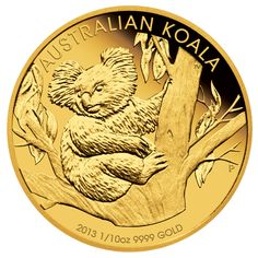 One of Australia's favourite collectable issues, the Australian Koala Gold Coin Series portrays delightful original artistry each year. Bullion Coins, Gold Bullion, Australian Money, Foreign Coins, Gold And Silver Coins, Mint Coins, Australian Animals, Proof Coins, World Coins
