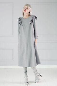 Sukienka z falbanami - MalinaDesign - Sukienki dresowe
