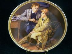 Edwin Knowles Norman Rockwell Confiding in the Den LTD Edition China Plate EUC