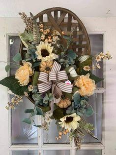 Tobacco Bowls, Tobacco Basket, Fall Swags, Fall Wreaths, Floral Wreaths, Urn, Fall Halloween, Grapevine Wreath, Grape Vines