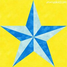 (7) Name: 'Quilting : Two-Tone Star (paper pieced)