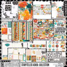 Storyteller Asher : Digital Scrapbooking Kit Collection