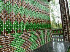beautiful walkway... of beer bottles