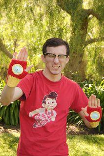 Crochet Iron Man wrist warmers!!!