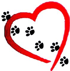 Paw prints on your heart!