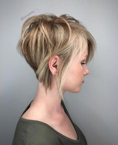 Long Blonde Pixie With Highlights #shortblondepixie