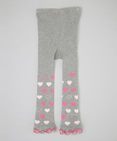 Take a look at this Gray & Pink Heart Ruffle Footless Tights - Infant, Toddler & Girls by Naartjie on #zulily today!
