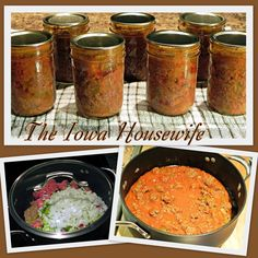 """This is a recipe that I have canned for years. It is a combination of a couple of recipes from the """"Farm Journal Thrifty Cook Book"""" fro..."""