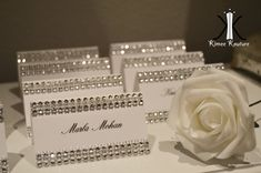 Cartons de strass Bling SET de 25 chevalets cartes cartes nom escort cards