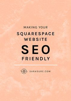 SEO- Search engine optimization for your Squarespace website